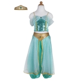 Jasmine Princess Set blue-green 104-116cm